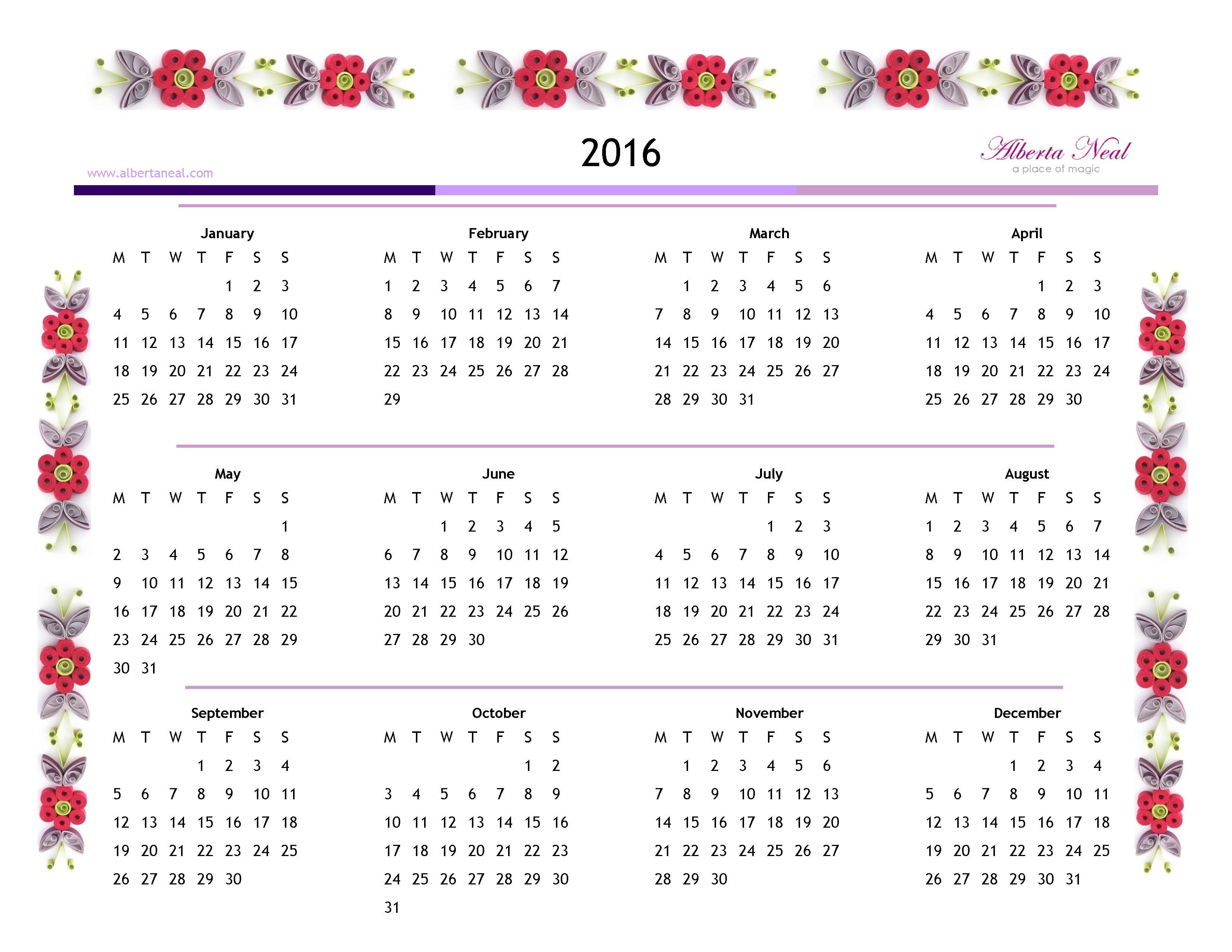 2016 calendar v2 alberta neal